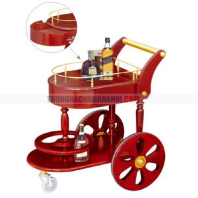 giá để rượu có 3 bánh xe đẩy cao cấp