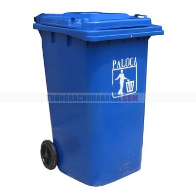 Thùng rác nhựa composite có bánh xe 120L
