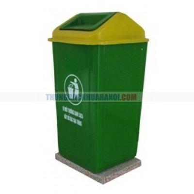 thùng rác composite đế đá 90l