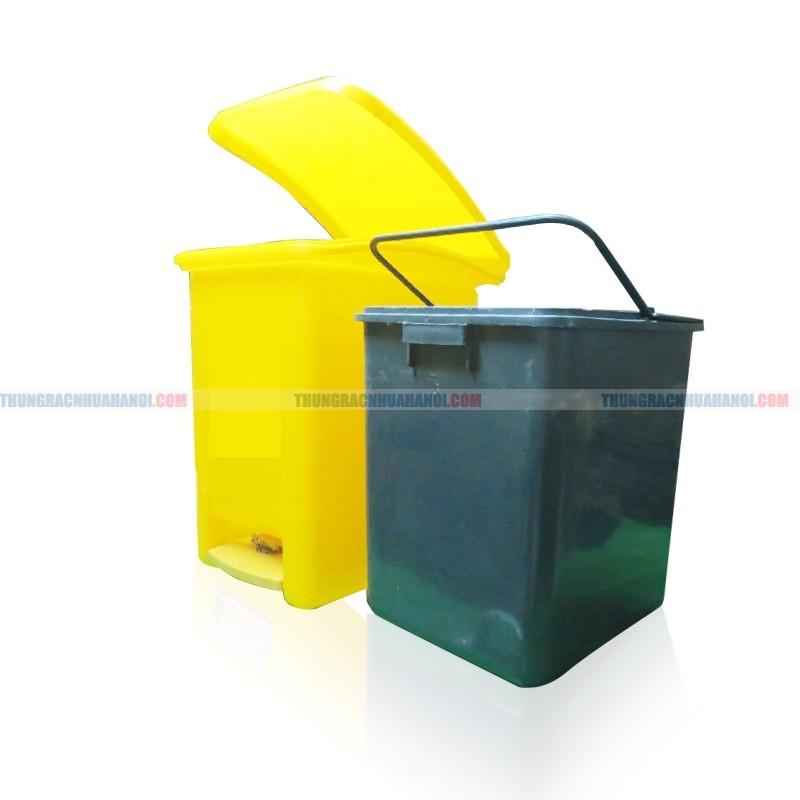 Thùng rác nhựa bàn đạp chân MGB nhiều kích cỡ