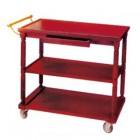 Xe đẩy phục vụ bàn bằng gỗ 3 tầng màu đỏ đun