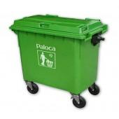 Thùng rác nhựa 660 lít loại thùng rác cỡ lớn được làm từ chất liệu nhựa HDPE, Composite chất lương tốt nhất hiện nay.