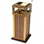 Thùng rác inox mạ vàng, in giả gỗ cao cấp