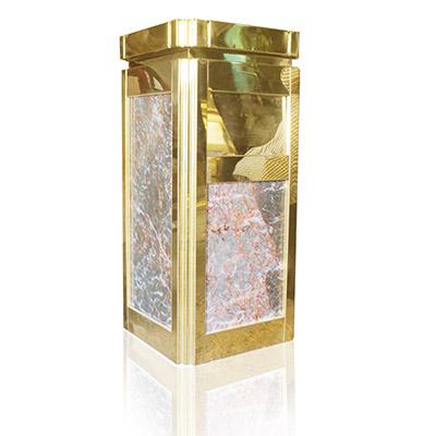 Thùng rác đá hoa cương có gạt tàn thuốc lá hình vuông