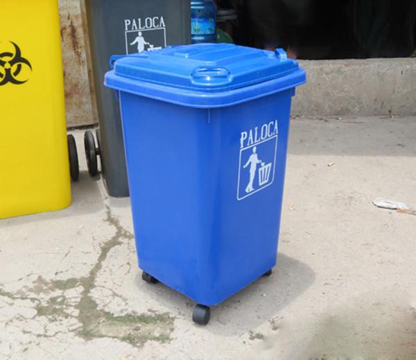 Thùng rác nhựa 60 lít bánh xe