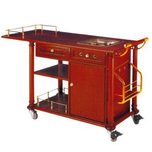 Xe phục vụ bàn bếp di động màu đỏ đun